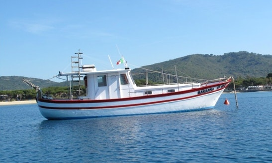 Diving Boat In Campo Nell'elba