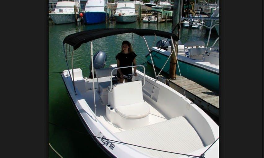 Rent 18' Angler Center Console In Islamorada, Florida
