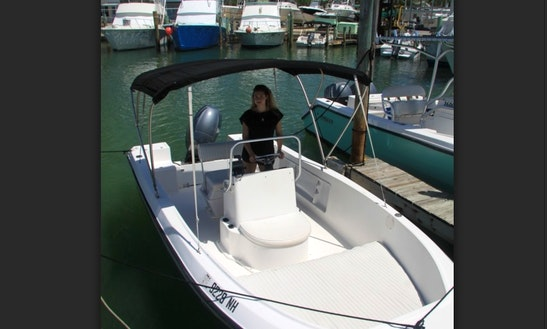 Rent 18' Angler Center Console In Islamorada, Florida