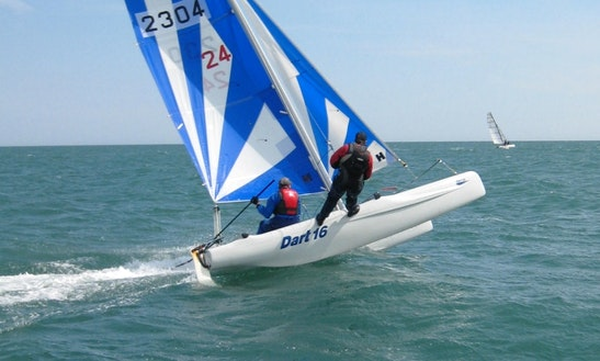 Dart 16 Beach Catamaran For Hire In Bala Lake