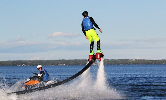 Flyboarding On Park Land Beach