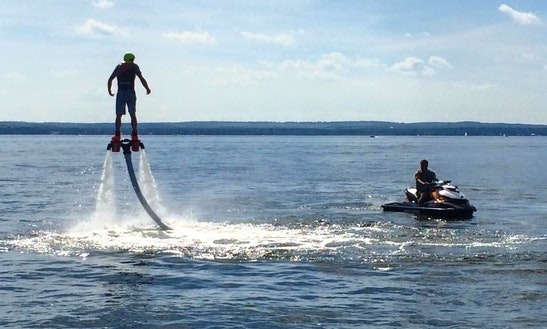 Flyboard Ride On Jackfish Lake