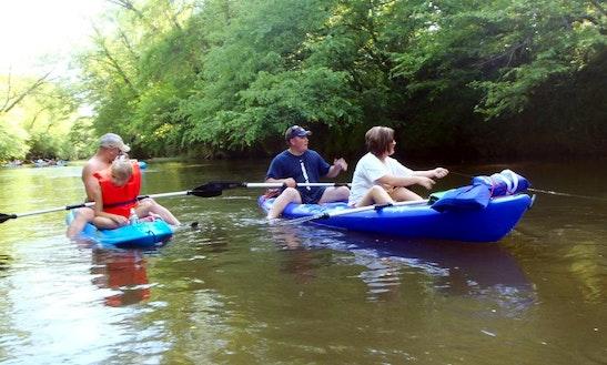 Double Kayak Rental In Tallapoosa River