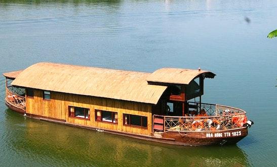 Vietnamese Junk Boat In Hue Vietnam