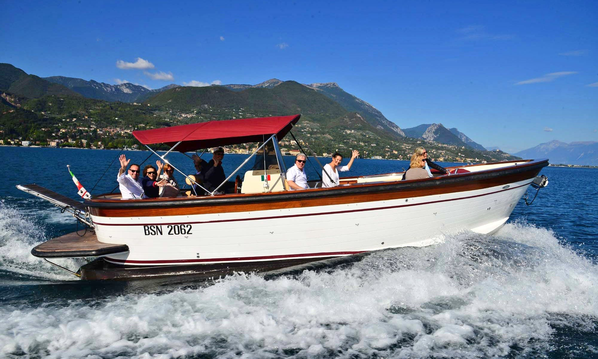 Skippered Charters On 29 Gozzo Passenger Boat In Salò, Italy
