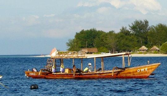 Wooden Local Boat  In Pemenang