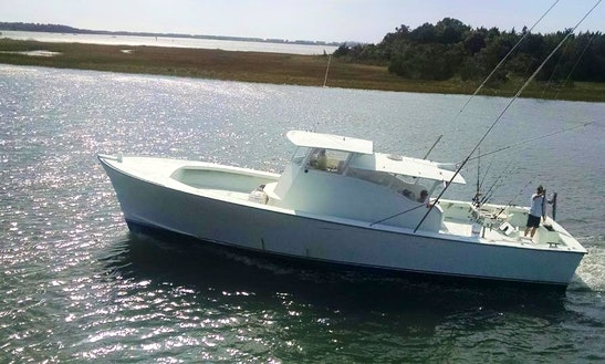 Fishing charter on 37 39 yacht in atlantic beach north for Fishing charters morehead city nc