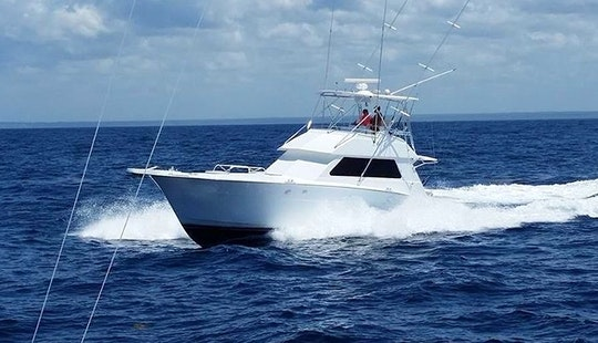 Fishing Charter On 45' Sport Fisherman Boat In San Juan, Puerto Rico