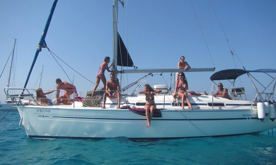 32' Cruising Monohull Velero Bavaria Cruiser Charter in Ibiza, Spain