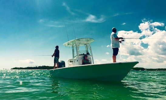Enjoy Fishing In Cape Coral, Florida On 24' Sportman Masters Center Console