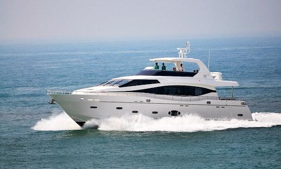 Monte Fino 76 Motor Yacht Charter In Club De Mar