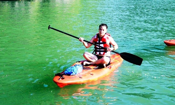 Experience most great aspects of Halong Bay with a Kayak
