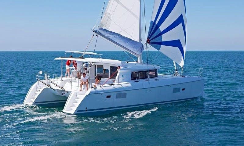 Lagoon 421 Sailing Catamaran Charter in Imola