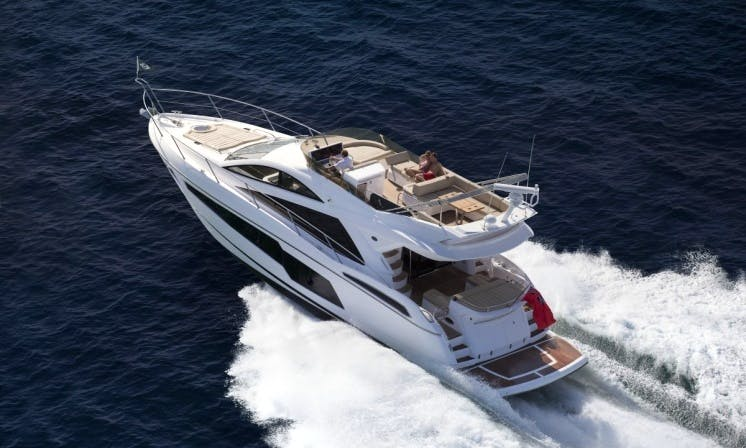 The best sport cruiser! Sunseeker San Remo with 2 Cabins for Charter in Mellieħa