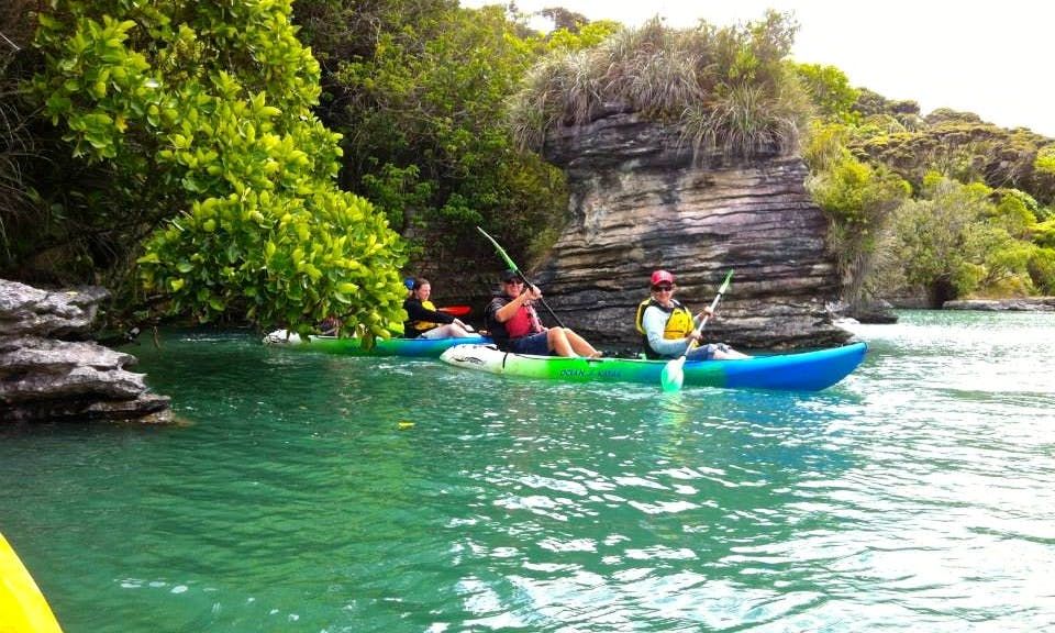 Discover places accessible only by kayak and Soak it up!