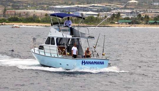 Fishing Charter On 38ft 'hanamana' Boat In North Kona, Hawaii