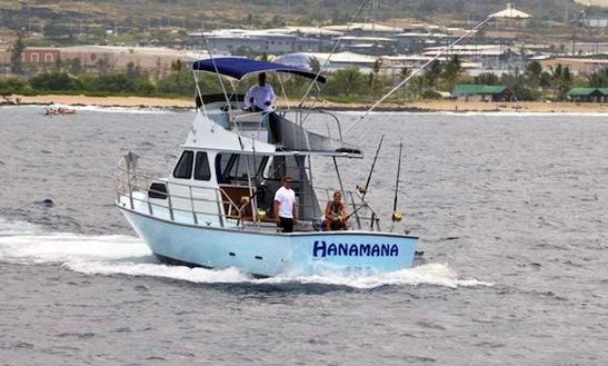 Fishing Charter On 38ft 'hanamana' Boat In North Kona, Hawaii