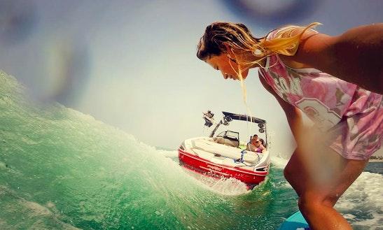 24ft Malibu Bowrider Wakeboarding Charter In Dubai, Uae