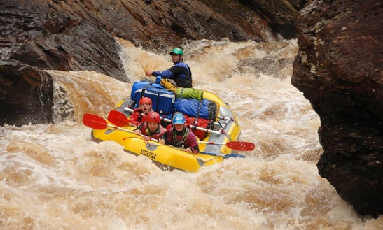 Whitewater Rafting Adventure On Franklin River