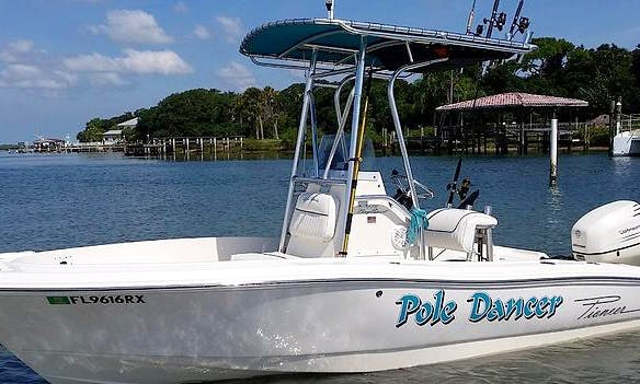 18' Center Console Fishing Charter in Daytona Beach, Florida (Captained Only)