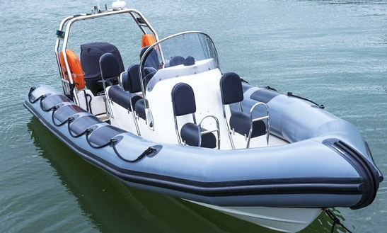 23' Rigid Inflatable Boat Skippered Charter In Southampton