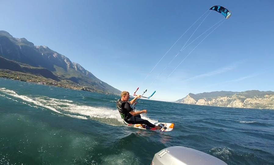 Learn Kitesurfing on Lake Garda, Malcesine, Italy