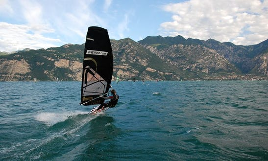 Windsurfing Lesson On Lake Garda In Malcesine, Italy
