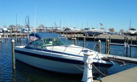 Enjoy Fishing On 33' Chris Craft Commander Boat On Lake St. Clair