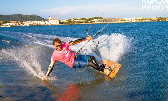 Kitesurfing In Esposende, Portugal