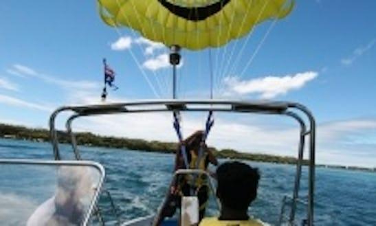 Parasailing On Gold Coast Broadwater, Queensland, Australia