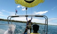 Parasailing on Gold Coast Broadwater, Queensland, Australia