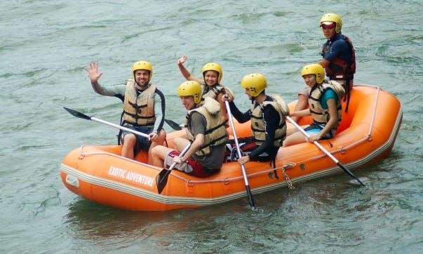 Fun White Water Rafting in Kota Kinabalu, Malaysia