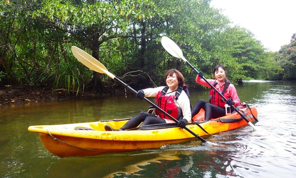 Sea Kayaking for 2 Person on the Iriomote Island in Japan