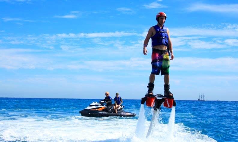 Flyboarding in Port Melbourne
