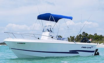 Florida Fishing Charter aboard 4 Person Proline Center Console Boat with Captain John