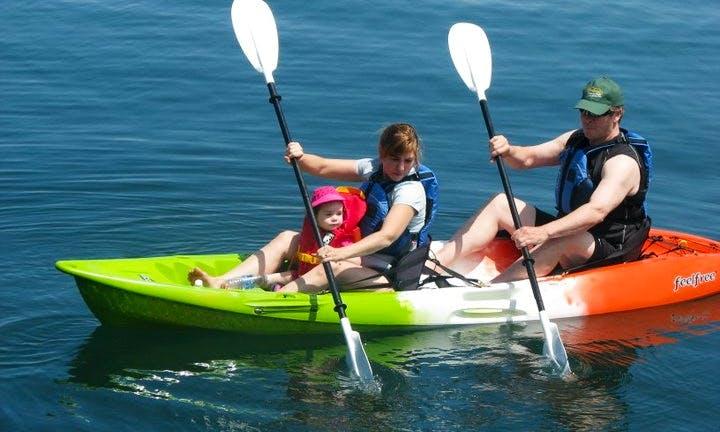 Feel-Free Double Kayak Rental in Digby