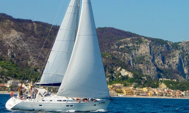 "42' Cruising Monohull ""Aledo"" Trips & Lessons in Finale Ligure, Italy"