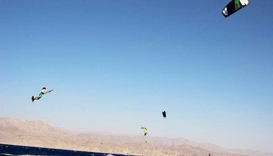 Kitesurfing In Eilat, Israel