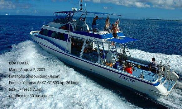 "57' ""Swift"" Passenger Boat in Okinawa, Japan"
