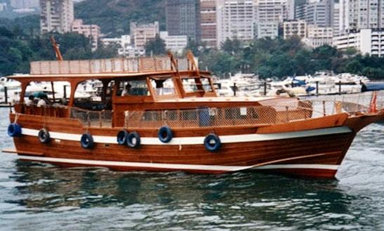 Sl003 Chinese Junk 58 Boat Charter In Hong Kong