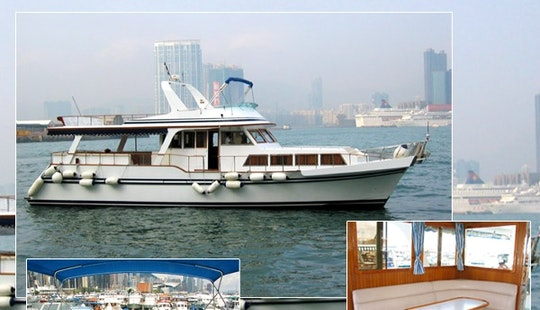 40 People Sl005 White Chinese Junk 65 Yacht Charter In Hong Kong Island