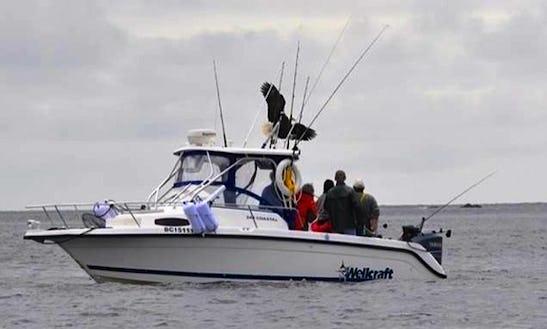 Sport Fisherman Yacht Fishing Trips In Cowichan, Canada