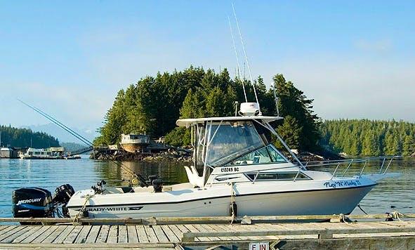 "Cuddy Cabin ""Play N Hooky II"" Fishing Trips in Tofino, Canada"
