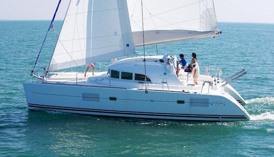 Lagoon 380 Sailing Catamaran Charter In Arona