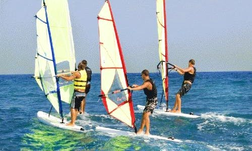Windsurfing in Lepe, Spain
