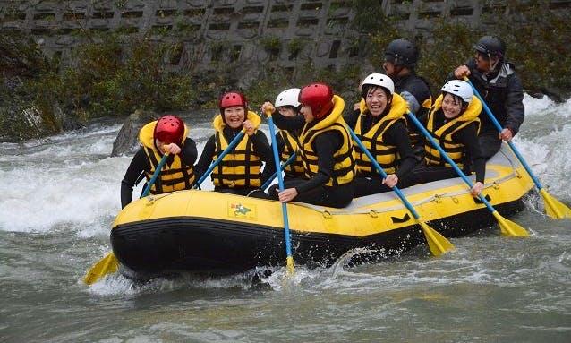 Rafting in Nagatoro, Japan