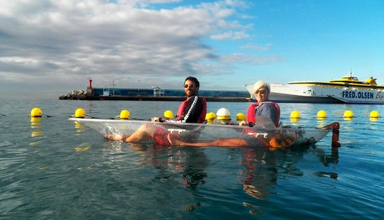 Clear Kayak Tour Of Los Cristianos Coast To Palm-mar In Arona, Spain