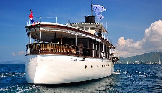 Charter This108' Classic Cruising Mega Yacht In Phuket, Thailand