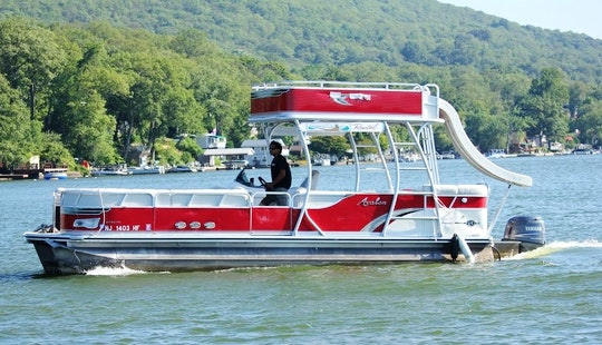 27' Pontoon Rental In Hewitt, New Jersey