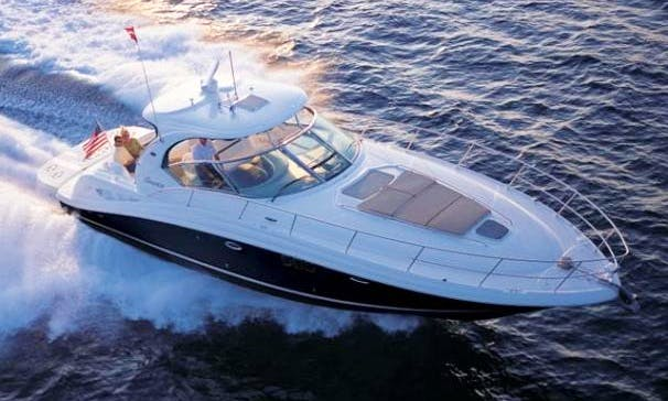 Enjoy Pristine 45 Sea Ray Sport Yacht Captained Charter in Fort Lauderdale